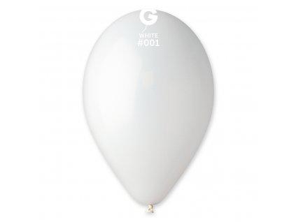 Pasztell fehér lufi 26 cm