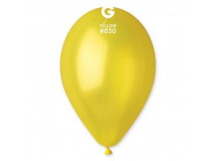 Sárga metál lufi 26 cm