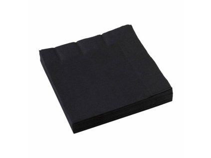 Fekete szalvéták 25x25 cm