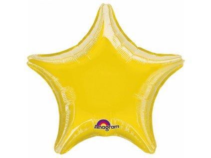Csillag fólia lufi - arany