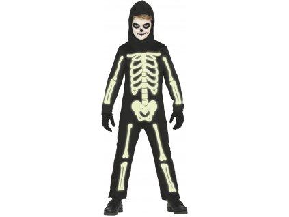 Gyermek jelmez - Világító csontváz