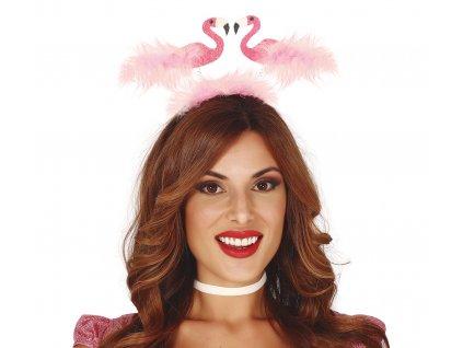 Hajpánt - Flamingók tollakkal