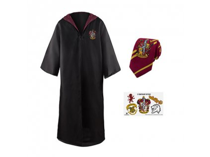 Szett - köpeny, nyakkendő és tetoválások Harry Potter - Griffendél