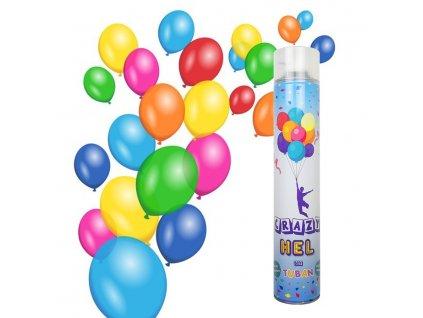 Hélium spray palack