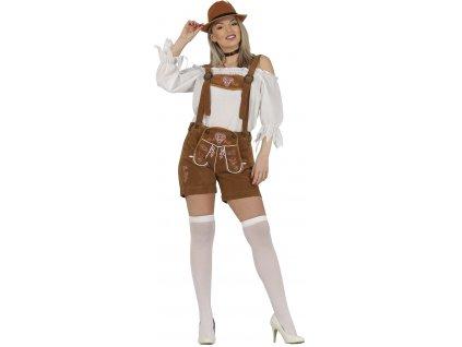 Női jelmez - Tiroli nő, világos nadrágban