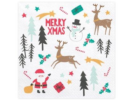 Karácsonyi szalvéták - Merry XMas 33 x 33 cm