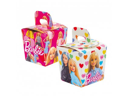 Dekoratív édesség boxok - Barbie 6 db