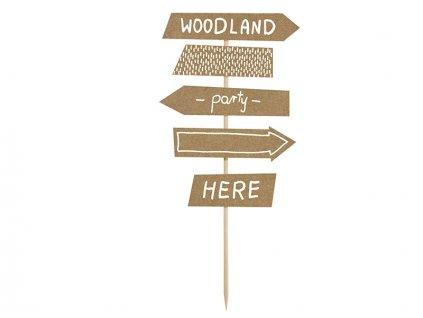 Woodland útirányjelző tábla dekoráció