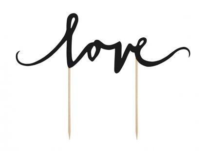 """Tortadísz - """"Love"""" fekete"""