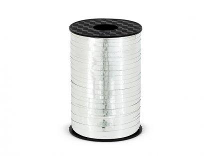 Szalag lufikra vagy ajándékokra - metál ezüst