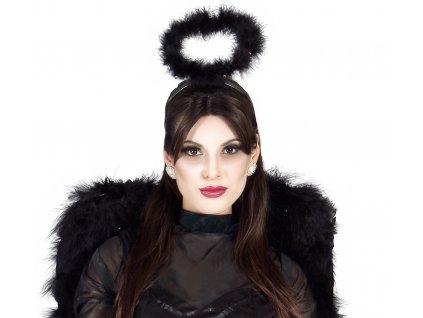 Angyal glória hajpánt - fekete
