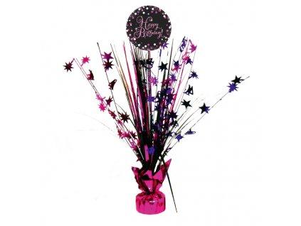 Asztali dekoráció - Csillogó rózsaszín
