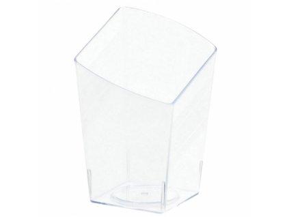 Műanyag tálak - átlátszó, szögletes 10 db