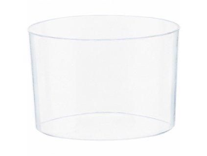 Mini átlátszó műanyag ovális tálak 40 db