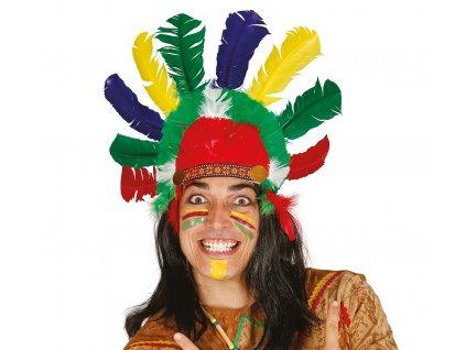 Színes indián hajpánt