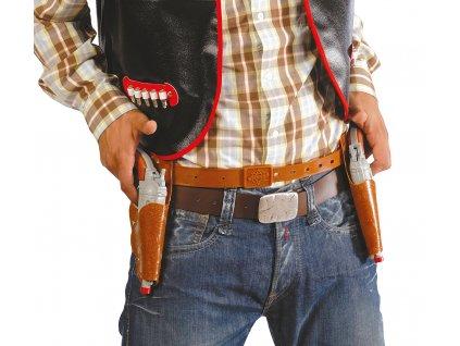 Kovbojsky opasok so zbraňami