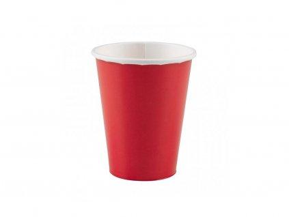 Poharak - piros 8 db