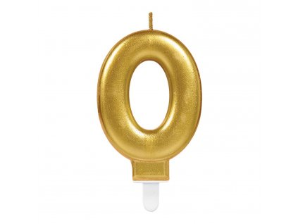 Születésnapi szám gyertya 0 - arany
