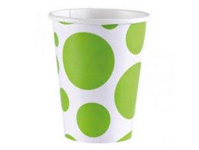 Poháre zelené bodkované
