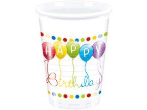Poharak - vidám születésnap 8 db