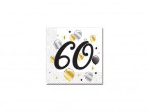 Szalvéták - 60. születésnap - milestone 20 db