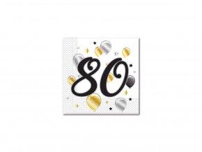 Szalvéták - 80. születésnap - milestone 20 db