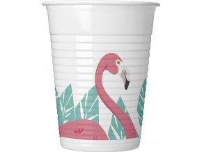 Poharak - flamingó 8 db