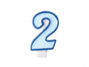 Születésnapi szám gyertya 2 - kék