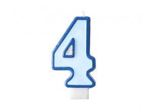 Születésnapi szám gyertya 4 - kék