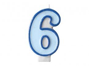 Születésnapi szám gyertya 6 - kék