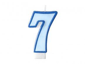 Születésnapi szám gyertya 7 - kék