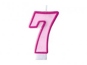Születésnapi szám gyertya 7 - rózsaszín