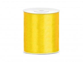 Saténová stuha žltá