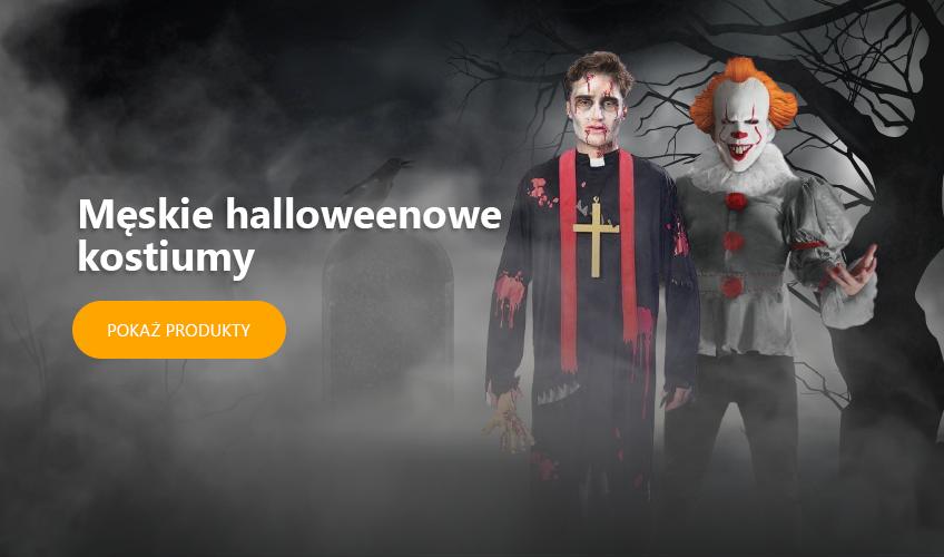 Męskie halloweenowe kostiumy