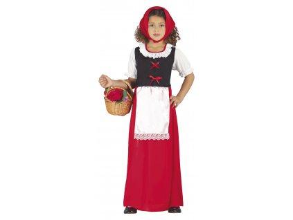 Detský kostým - Červená čiapočka (Rozmiar - dzieci S)