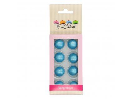 modré čokoládové guličky