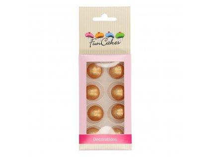 čokoládové guličky zlaté