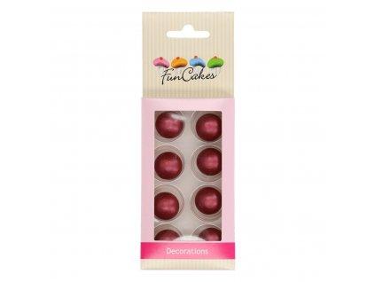 čokoládové guličky červené