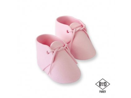 jedlé detské topánky ružové