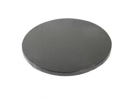 tortová podložka čierna