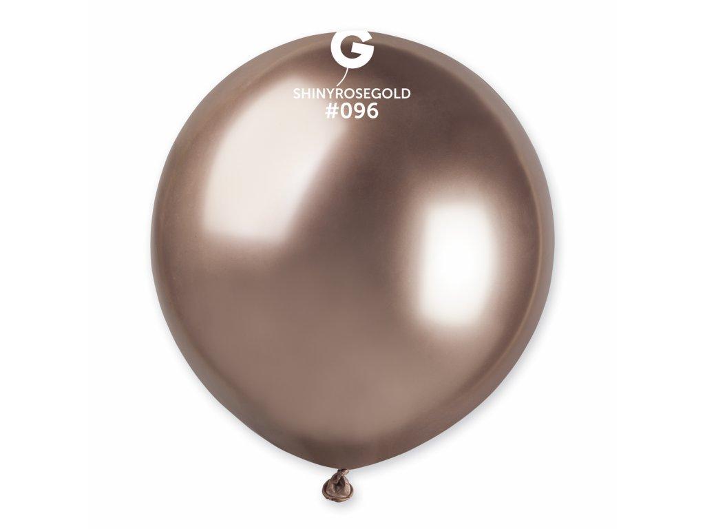 Balon cromat auriu-roze 48 cm