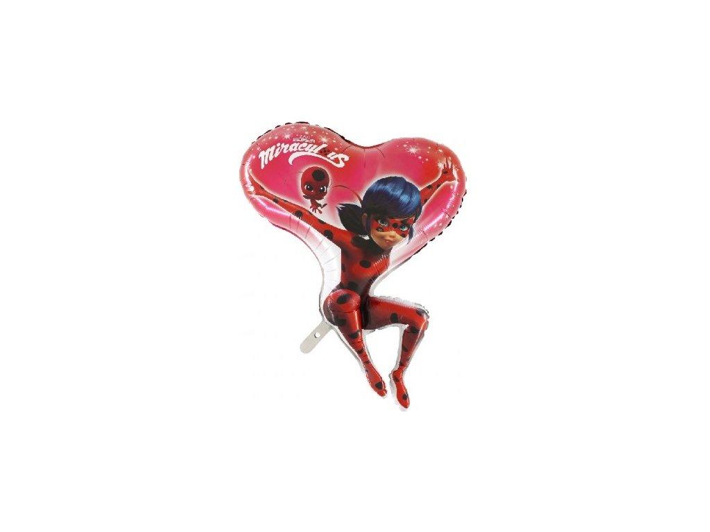 Balon din folie - Buburuza fermecată (Miraculous) Inimă