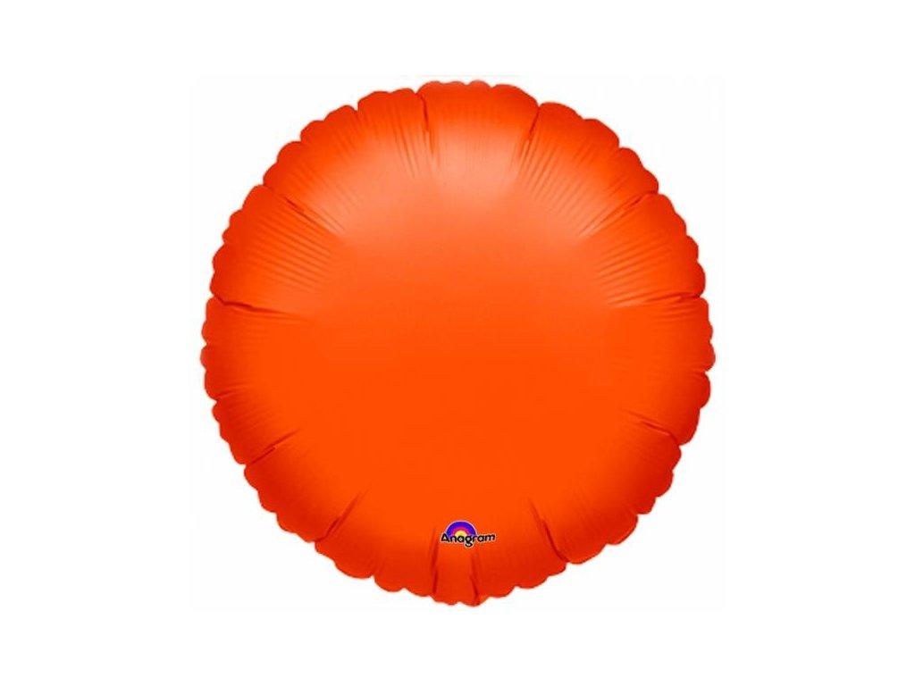 Balon din folie - Metalic portocaliu cerc
