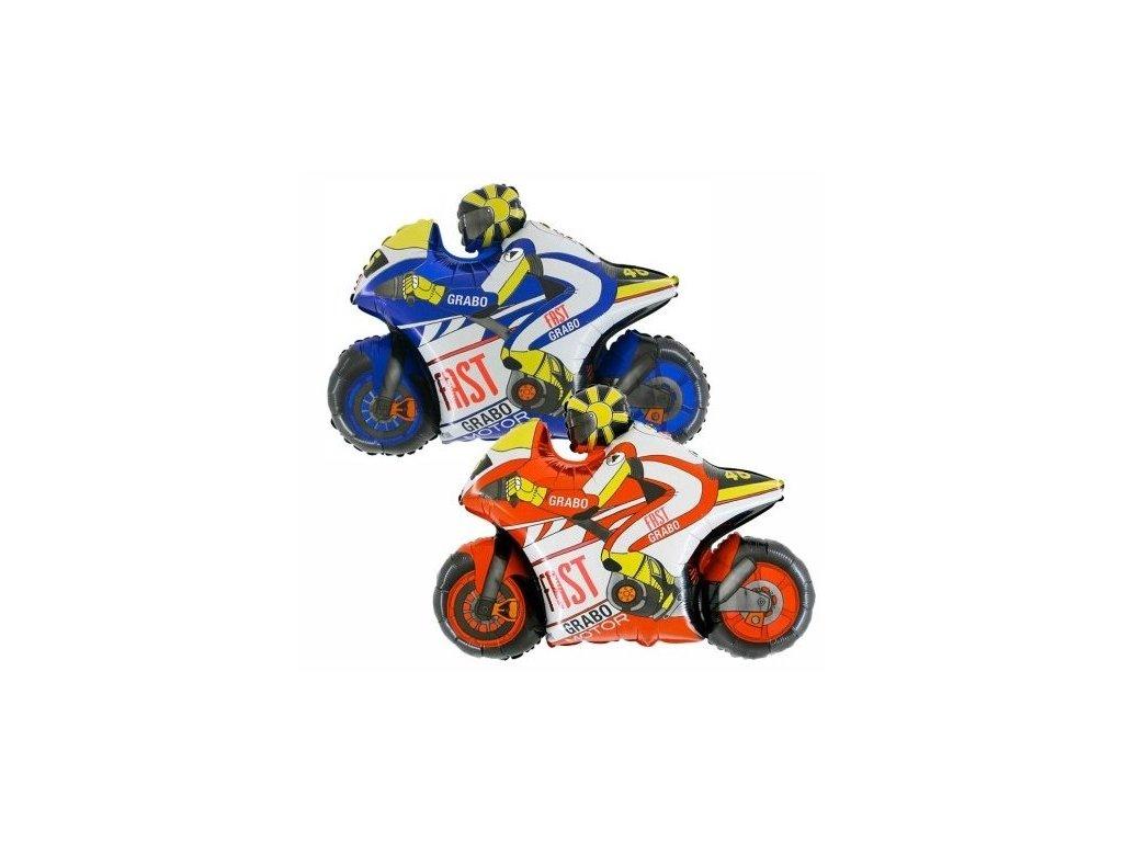 Balon din folie - motocicletă(rosu)