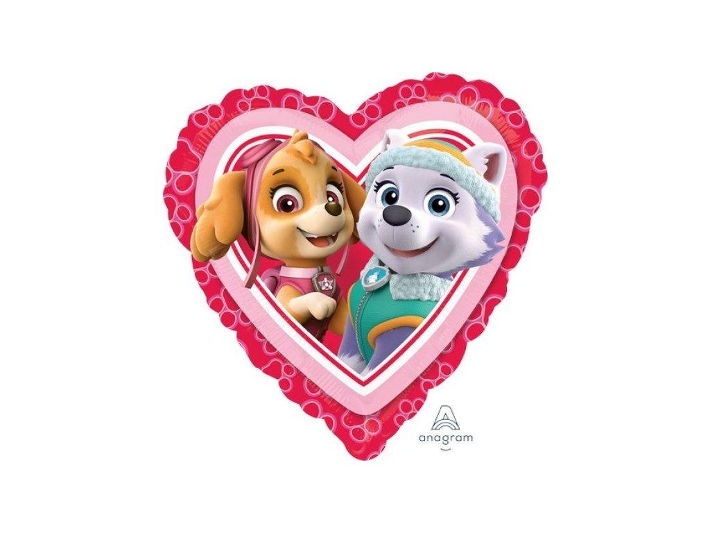 39062 foliovy balon paw patrol love girl 43cm