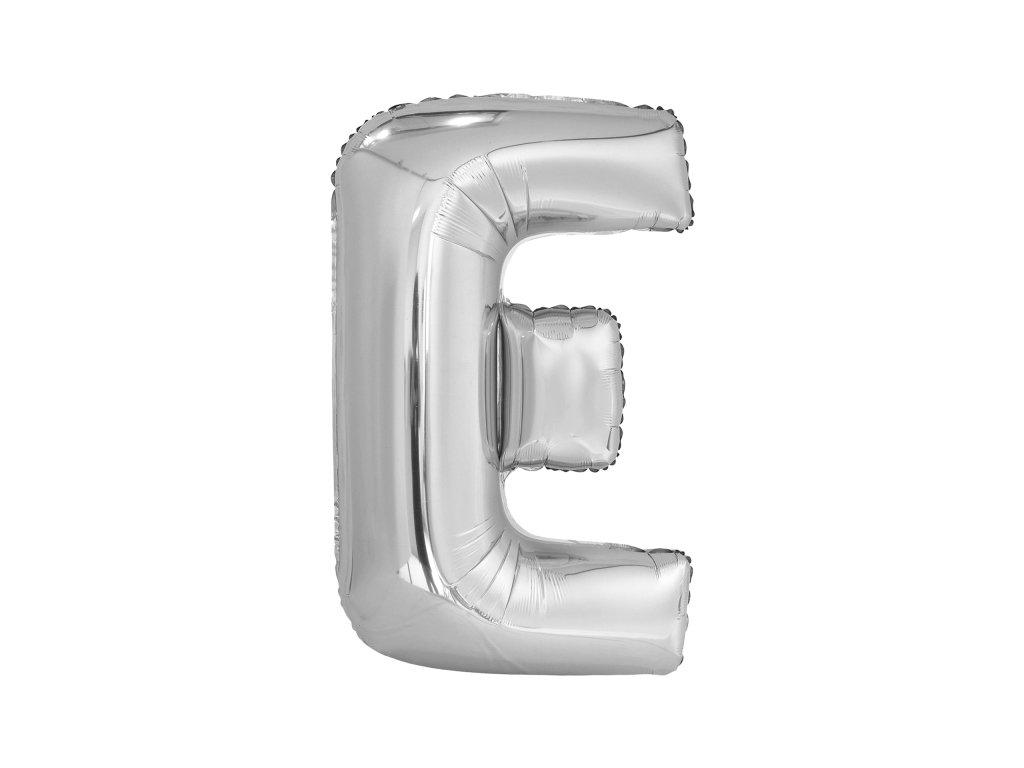 Balon din folie litera E 86 cm argintiu