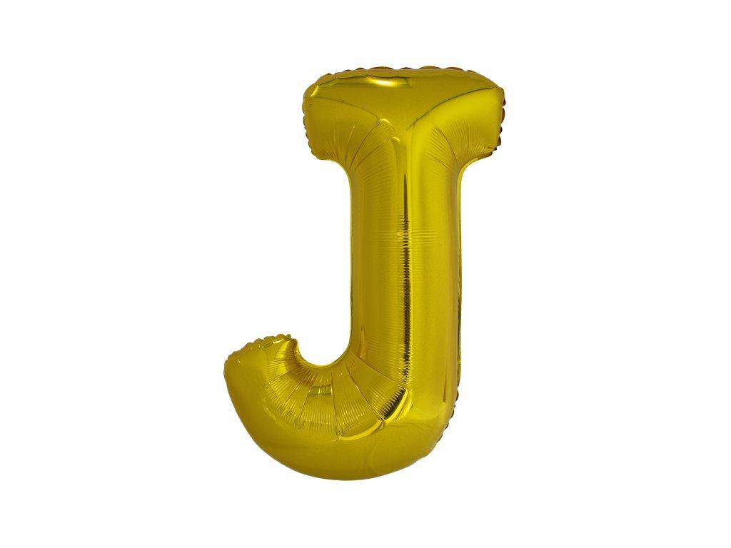 Balon din folie litera J 86 cm auriu