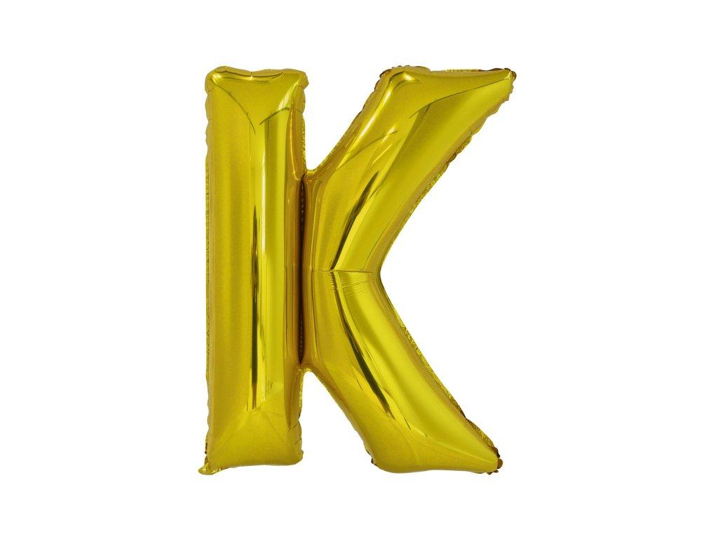 Balon din folie litera K 86 cm auriu