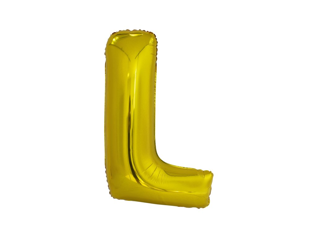 Balon din folie litera L 86 cm auriu