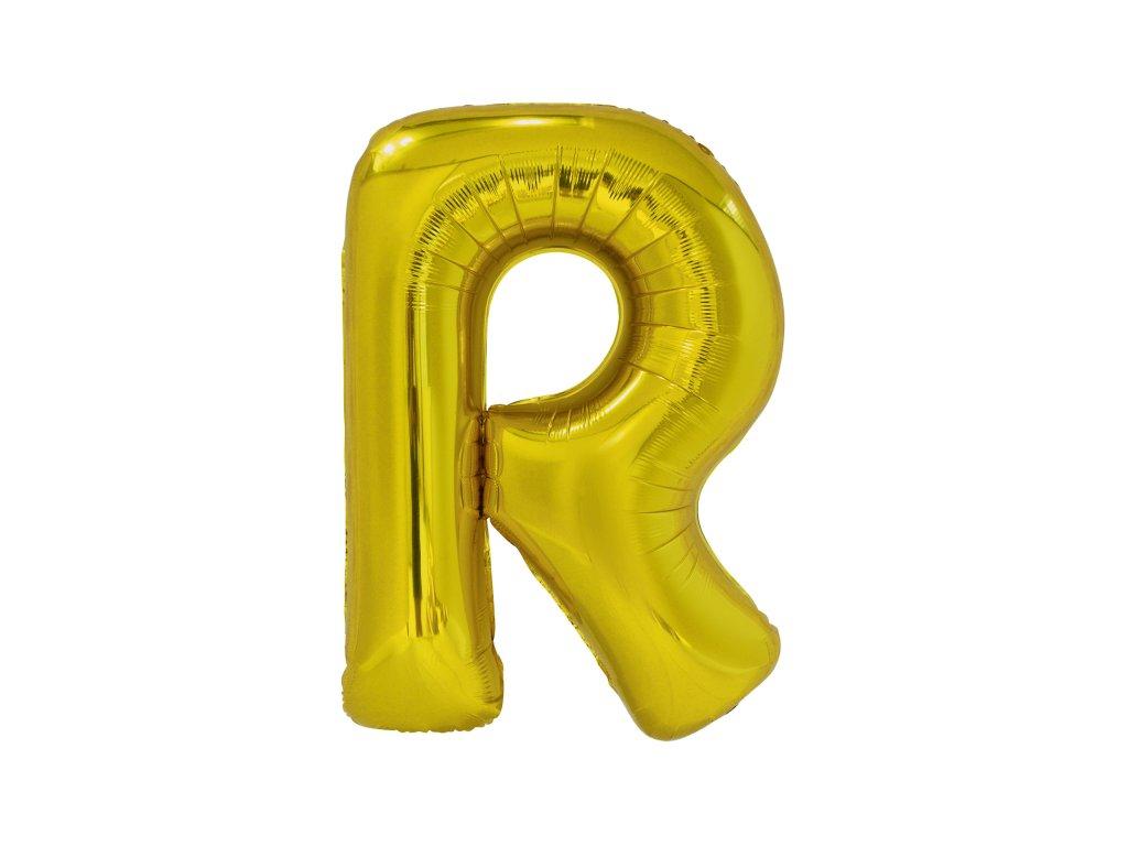 Balon din folie litera R 86 cm auriu
